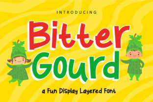 Bitter Gourd Font By rudhisasmito