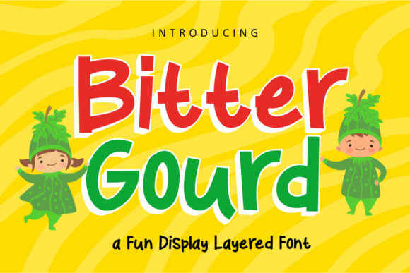 Print on Demand: Bitter Gourd Display Font By rudhisasmito