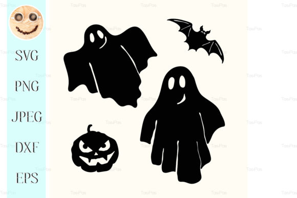 Print on Demand: Black Ghost Graphic Illustrations By TasiPas