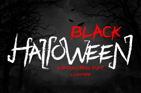 Print on Demand: Black Halloween Display Font By illushvara
