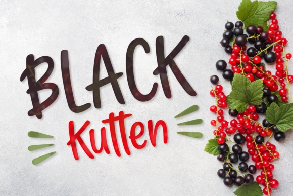 Print on Demand: Black Kutten Script & Handwritten Font By Situjuh - Image 1