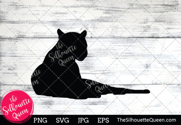 Download Free Black Panther Silhouette Graphic By Thesilhouettequeenshop for Cricut Explore, Silhouette and other cutting machines.