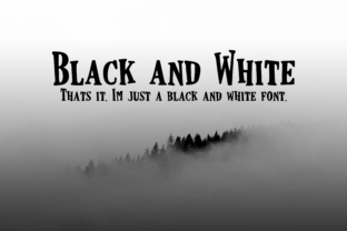 Black and White Script & Handwritten Font By CuriousxxGraphics