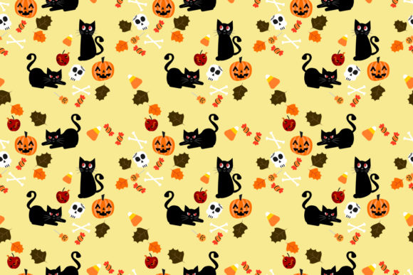 Download Free Black Cat And Halloween Pumpkin Graphic By Thanaporn Pinp for Cricut Explore, Silhouette and other cutting machines.