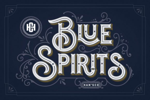 Print on Demand: Blue Spirits Display Font By HansCo