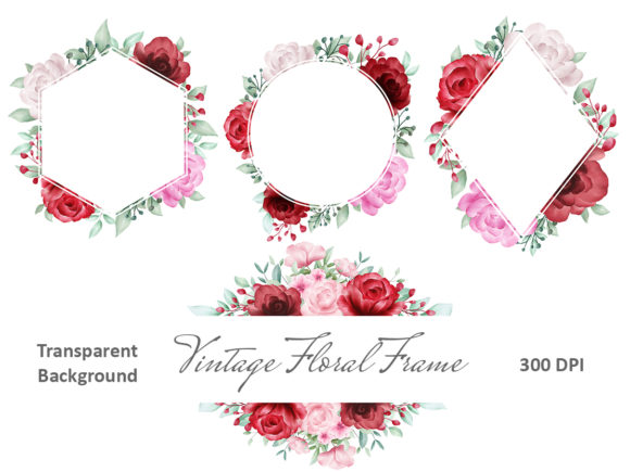 Print on Demand: Blush Roses Watercolor Flowers Clipart Graphic Illustrations By KeepMakingArt - Image 3