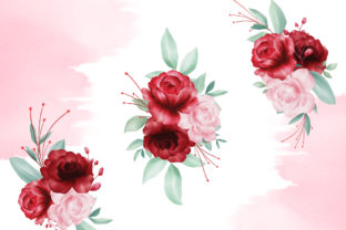 Blush Roses Watercolor Flowers Clipart Graphic By KeepMakingArt