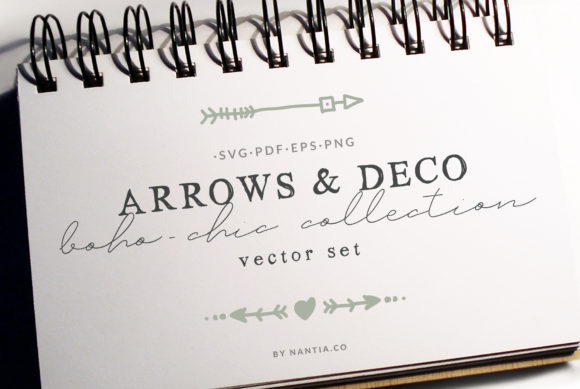 Print on Demand: Boho-Chic Arrows & Deco Vector Pack Graphic Objects By nantia