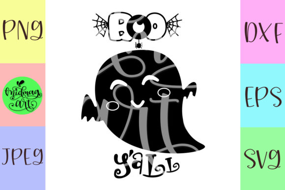 Download Free Boo Yall Graphic By Midmagart Creative Fabrica for Cricut Explore, Silhouette and other cutting machines.