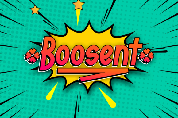 Print on Demand: Boosent Display Font By Kelik - 7NTypes