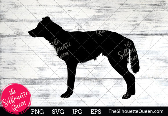 Download Free Border Collie Dog Silhouette Graphic By Thesilhouettequeenshop for Cricut Explore, Silhouette and other cutting machines.
