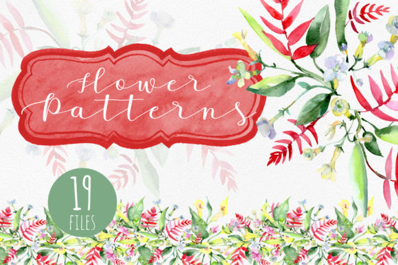 Print on Demand: Bouquet  and Pattern Background Graphic Illustrations By MyStocks