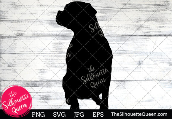 Download Free Boxer Dog Silhouette Grafico Por Thesilhouettequeenshop for Cricut Explore, Silhouette and other cutting machines.