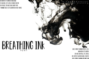 Breathing Ink Font By RainbowGraphicx