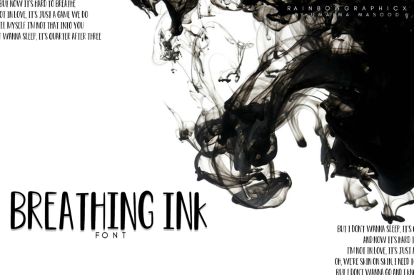 Print on Demand: Breathing Ink Sans Serif Font By RainbowGraphicx  - Image 1