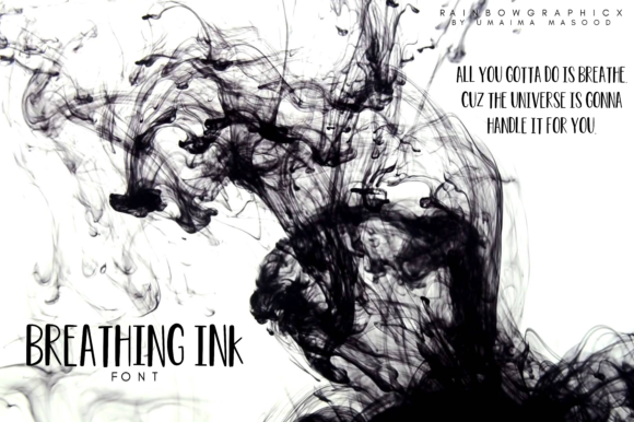 Print on Demand: Breathing Ink Sans Serif Font By RainbowGraphicx  - Image 3
