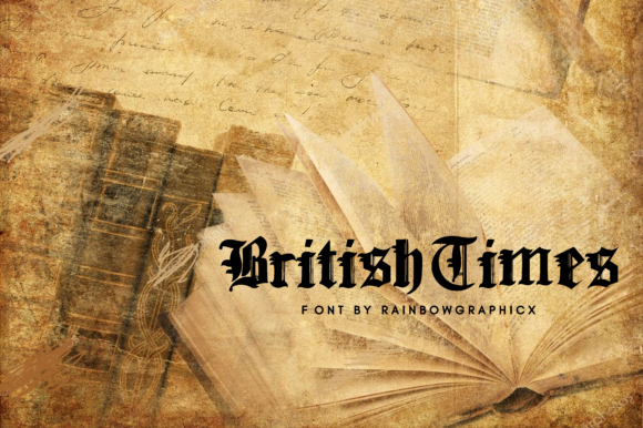 Print on Demand: British Times Script & Handwritten Font By RainbowGraphicx  - Image 1