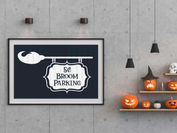 Broom Parking Graphic By ElsieLovesDesign Image 2