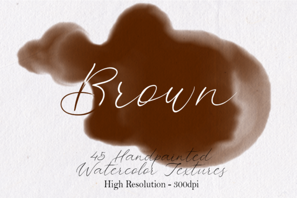 Print on Demand: Brown - 45 Watercolor Textures Graphic Textures By lovalu