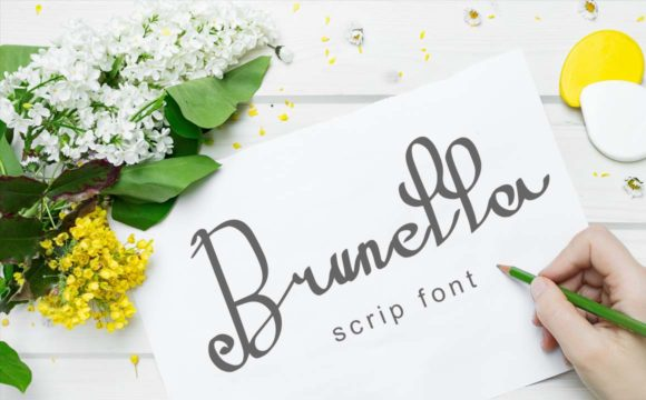Print on Demand: Brunella Script & Handwritten Font By darnotok005