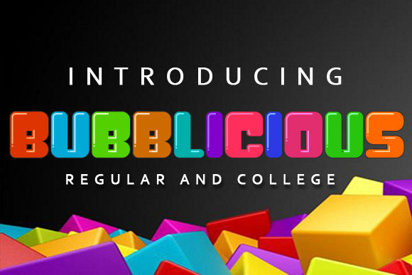 Print on Demand: Bubblicious Display Font By vladimirnikolic - Image 1