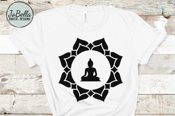 Download Free Buddha In Lotus And Sublimation Graphic By Jobella Digital for Cricut Explore, Silhouette and other cutting machines.