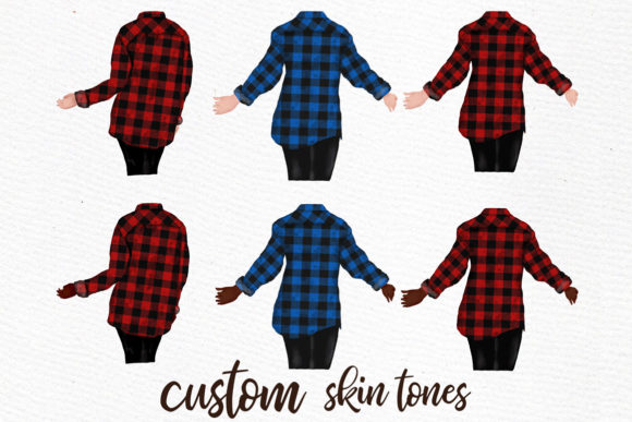 Buffalo Plaid Wedding Robes Clipart Graphic Illustrations By LeCoqDesign - Image 2