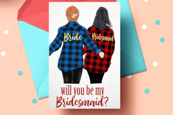 Buffalo Plaid Wedding Robes Clipart Graphic Illustrations By LeCoqDesign - Image 5