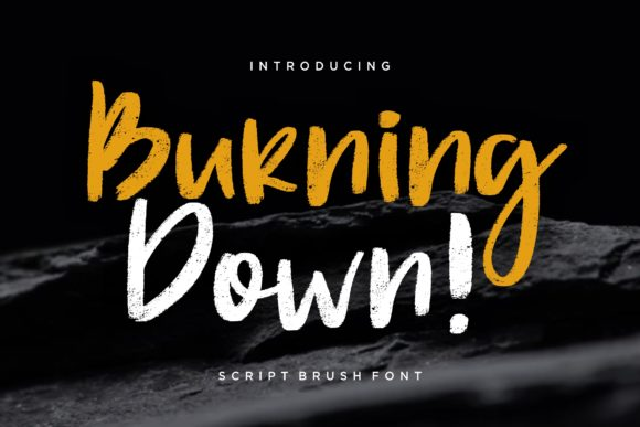 Burning Down Font By CreatypeStudio Image 1