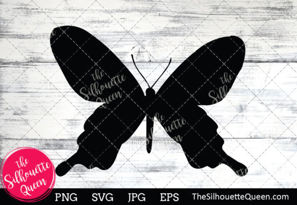 Download Free Butterfly Silhouette Graphic By Thesilhouettequeenshop for Cricut Explore, Silhouette and other cutting machines.