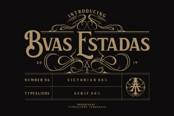 Print on Demand: Bvas Estadas Display Font By typealiens