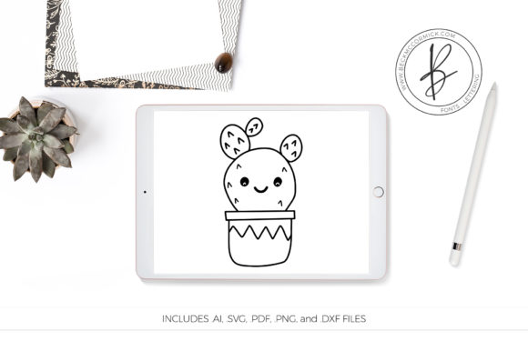 Download Free Cactus Doodle Svg Clipart Graphic By Beckmccormick Creative for Cricut Explore, Silhouette and other cutting machines.
