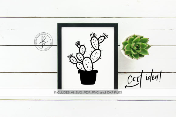 Print on Demand: Cactus Doodle SVG Clipart Graphic Crafts By BeckMcCormick