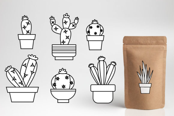 Download Free Cactus Succulent Bundle Graphic By Darrakadisha Creative Fabrica for Cricut Explore, Silhouette and other cutting machines.