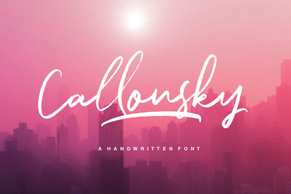 Print on Demand: Callonsky Script & Handwritten Font By letterhend