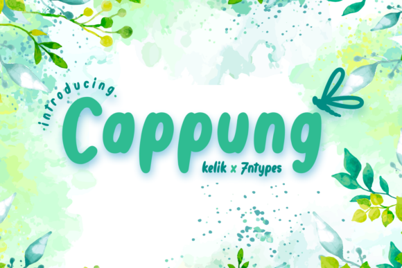 Print on Demand: Cappung Script & Handwritten Font By Kelik - 7NTypes