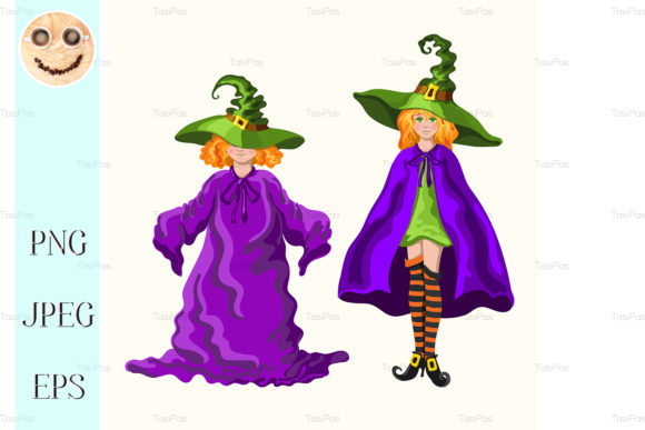 Download Free Cartoon Young Witches Isolated Graphic By Tasipas Creative Fabrica SVG Cut Files