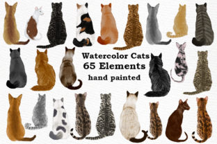 Print on Demand: Cat Clipart Graphic Illustrations By LeCoqDesign