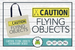 Caution Flying Objects Graphic By funkyfrogcreativedesigns