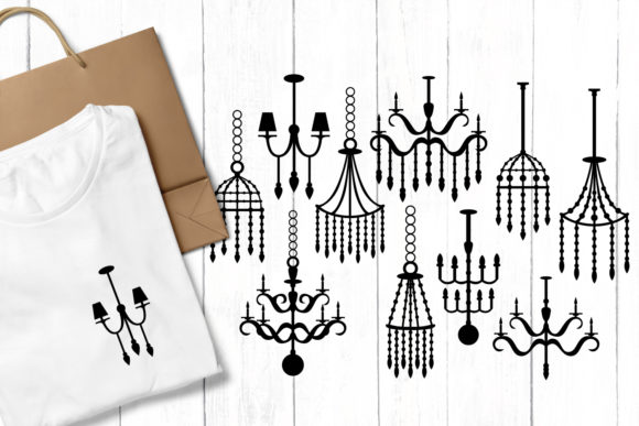 Print on Demand: Chandelier Graphic Illustrations By Revidevi