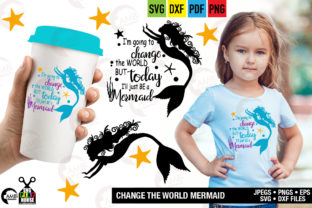 Change the World Mermaid Graphic By AMBillustrations
