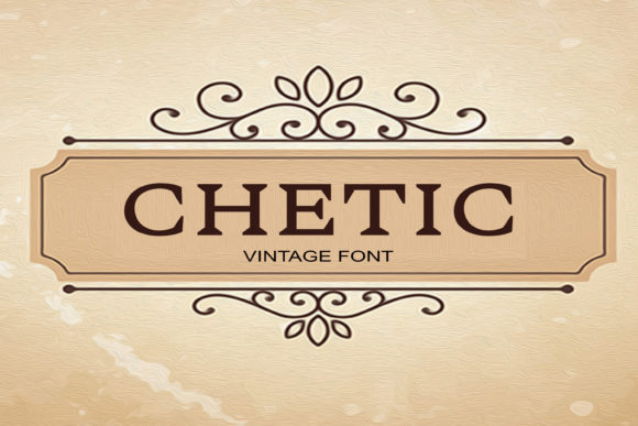 Print on Demand: Chetic Serif Fuente Por maxim.90.ivanov