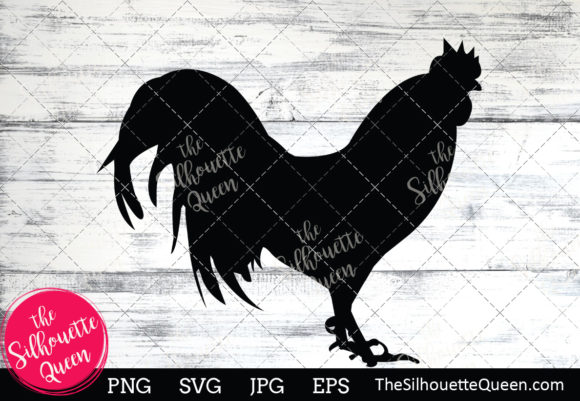 Chicken  Silhouette Graphic Crafts By thesilhouettequeenshop