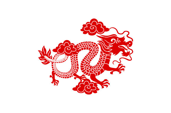 Chinese Dragon Svg Cut File By Creative Fabrica Crafts
