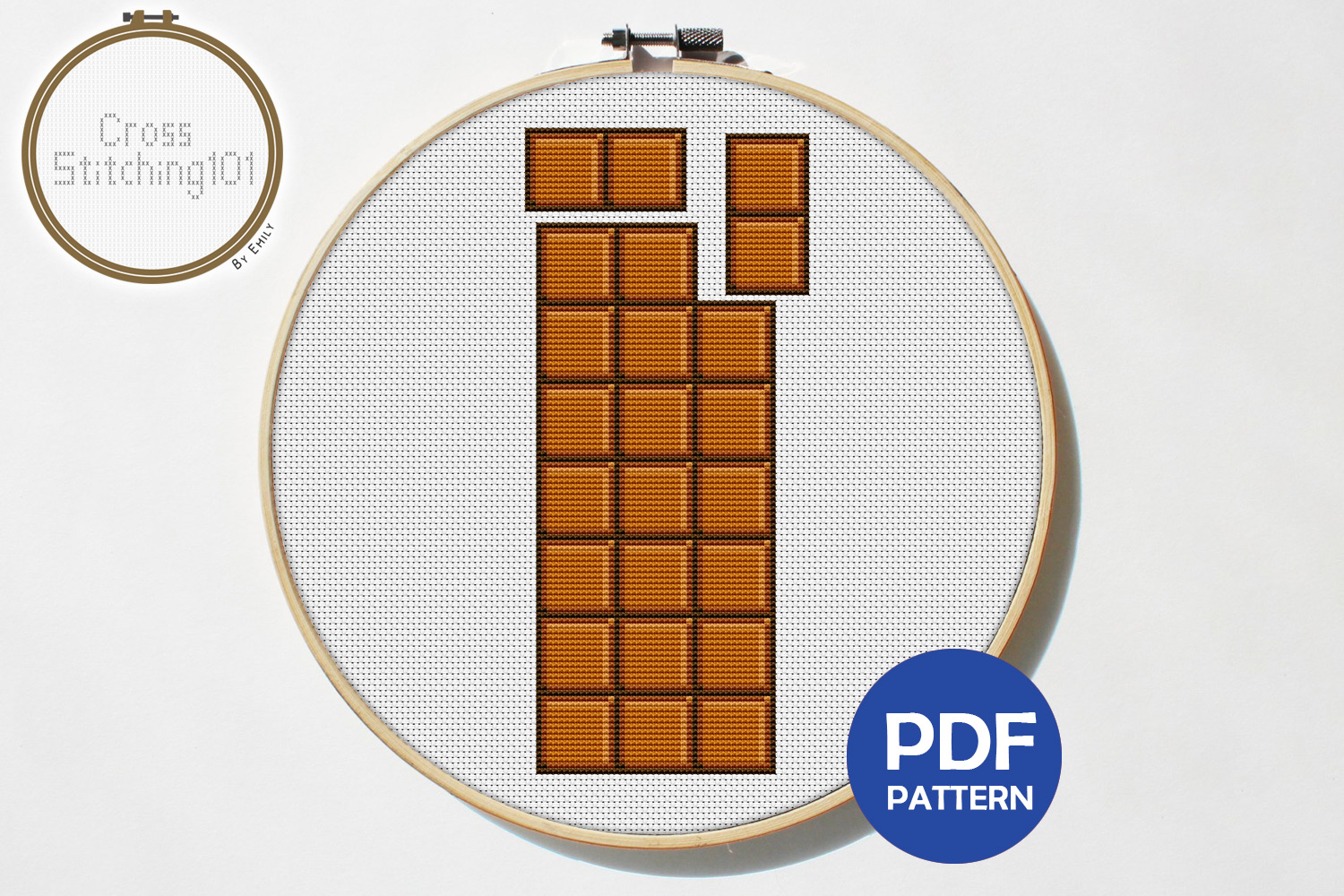 Download Free Chocolate Modern Cross Stitch Pattern Graphic By for Cricut Explore, Silhouette and other cutting machines.