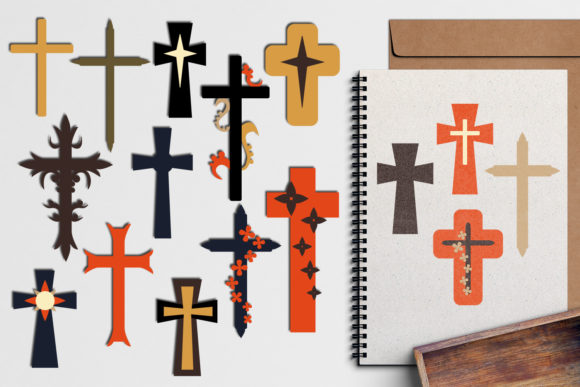 Print on Demand: Christian Cross Graphic Illustrations By Revidevi - Image 1