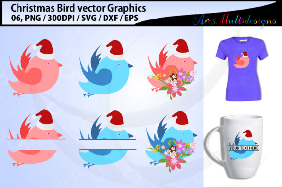 Christmas Birds Love Birds Graphic By Arcs Multidesigns
