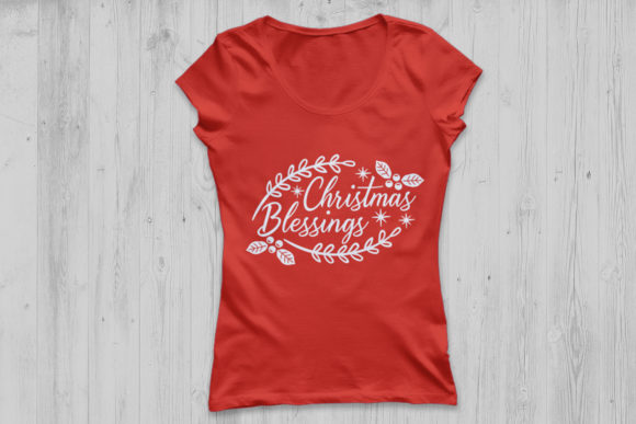 Download Free Christmas Blessings Graphic By Cosmosfineart Creative Fabrica for Cricut Explore, Silhouette and other cutting machines.