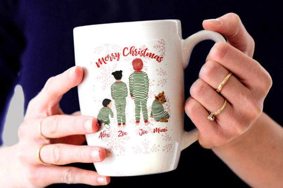 Christmas Family Clipart Graphic Illustrations By LeCoqDesign - Image 6