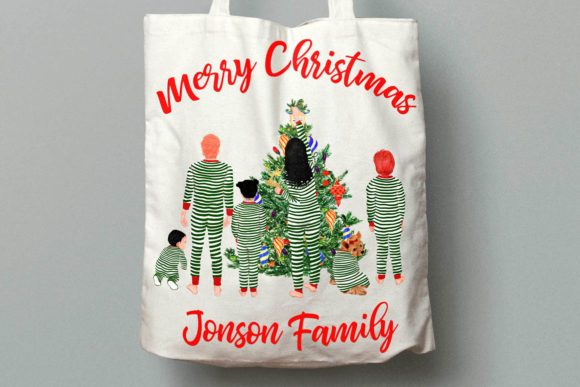 Christmas Family Clipart Graphic Illustrations By LeCoqDesign - Image 7